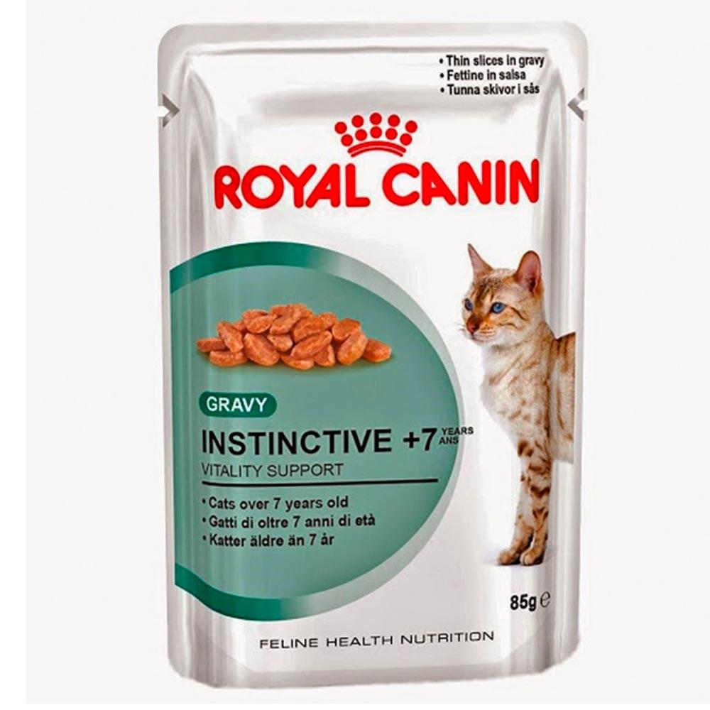 Ração Royal Canin FHN Instinctive 7+ em Sachê para Gatos Adultos de Paladar Exigente 7+ Anos - 85 g