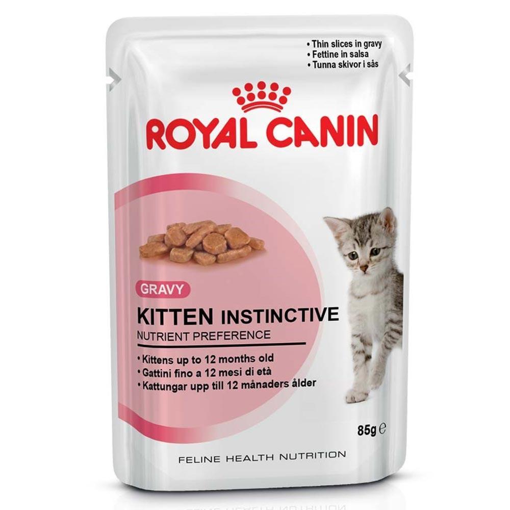 Ração Royal Canin FHN Kitten Instinctive em Sachê para Gatos Filhotes com 12 Meses ou mais - 85 g