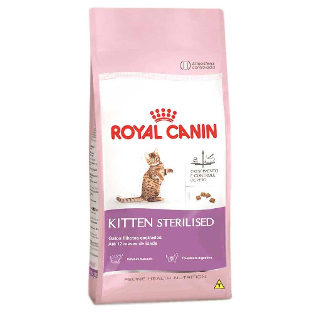 Ração Royal Canin FHN Kitten Sterilised para Gatos Filhotes Castrados até 12 Meses de Idade