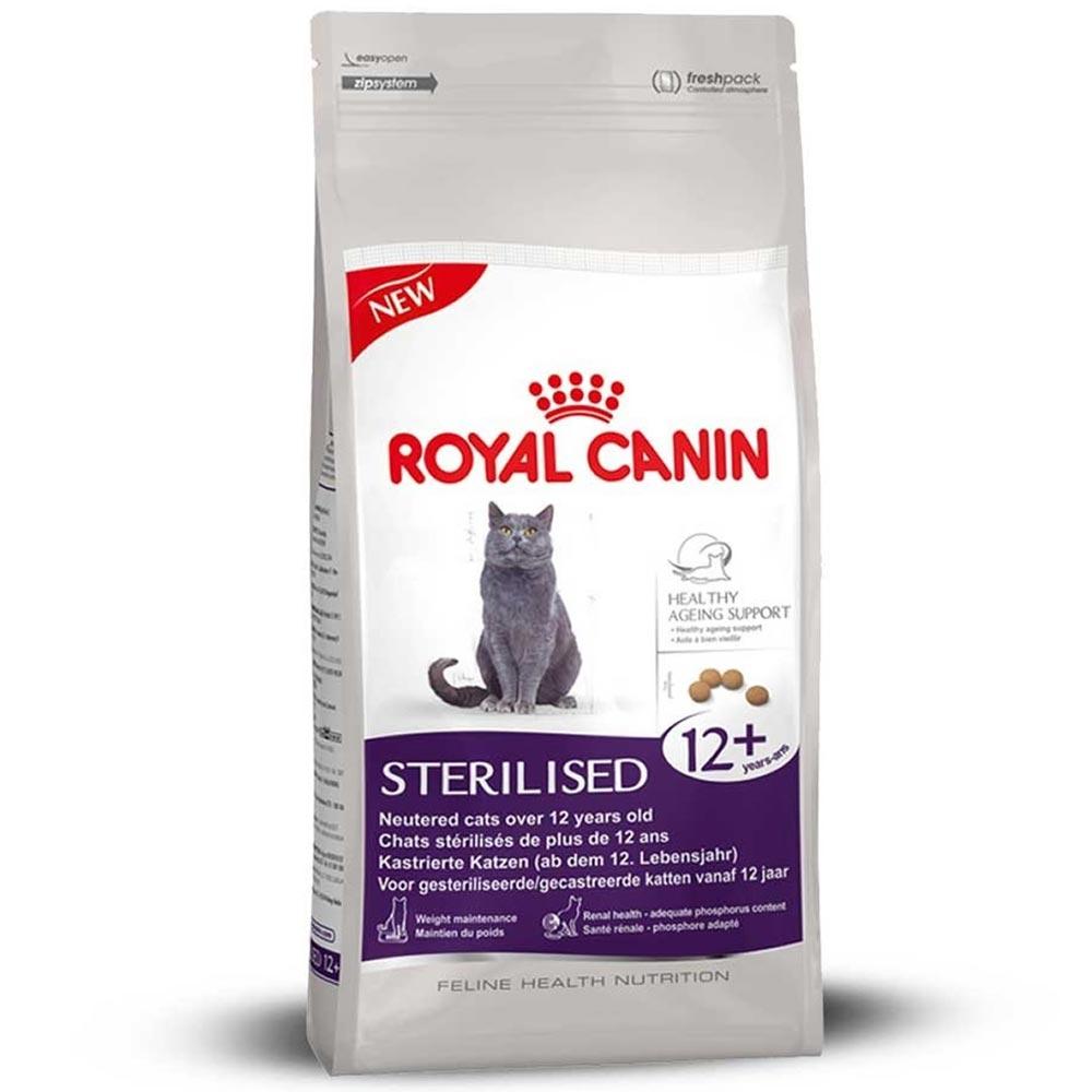 Ração Royal Canin FHN Sterilised 12+ para Gatos Idosos Castrados com mais de 12 Anos de Idade