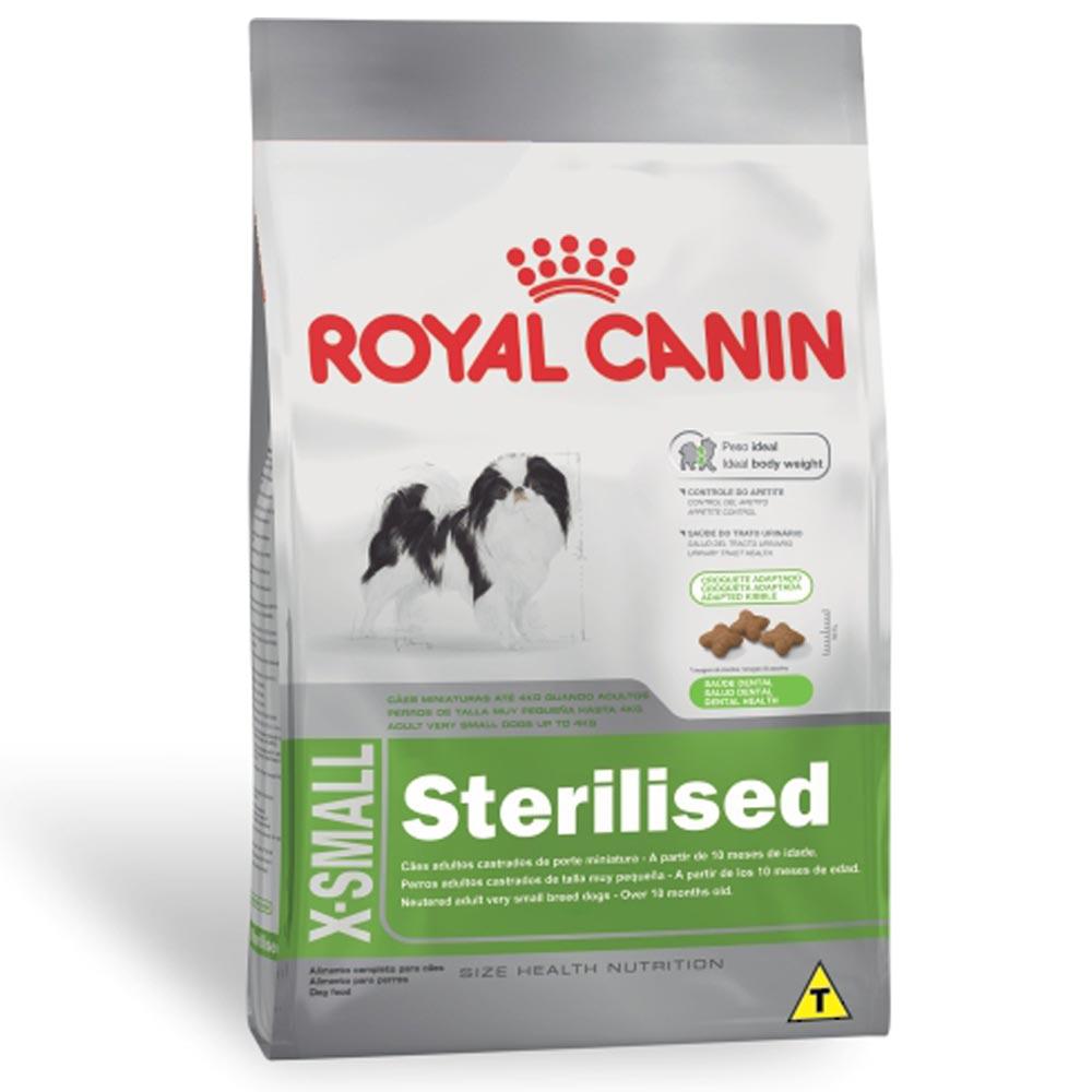 Ração Royal Canin SHN X-Small Sterilised para Cães Adultos Castrados de Raças Mini