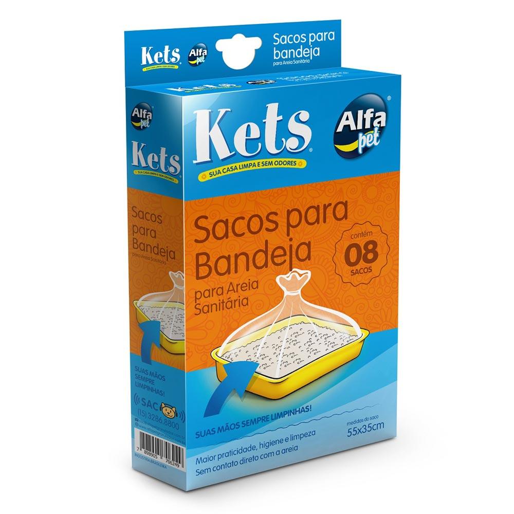 Sacos para Bandeja de Areia Alfapet Kets - 8 Unidades