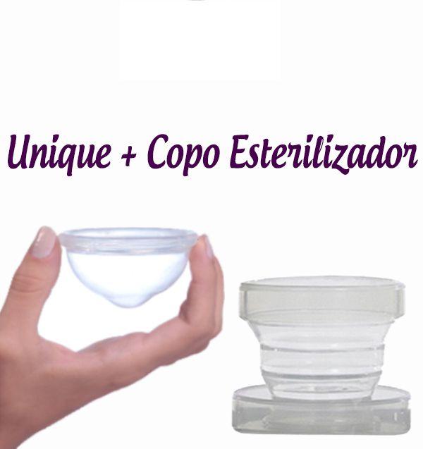 Kit Coletor Menstrual Unique + Copo Esterilizador Lumma