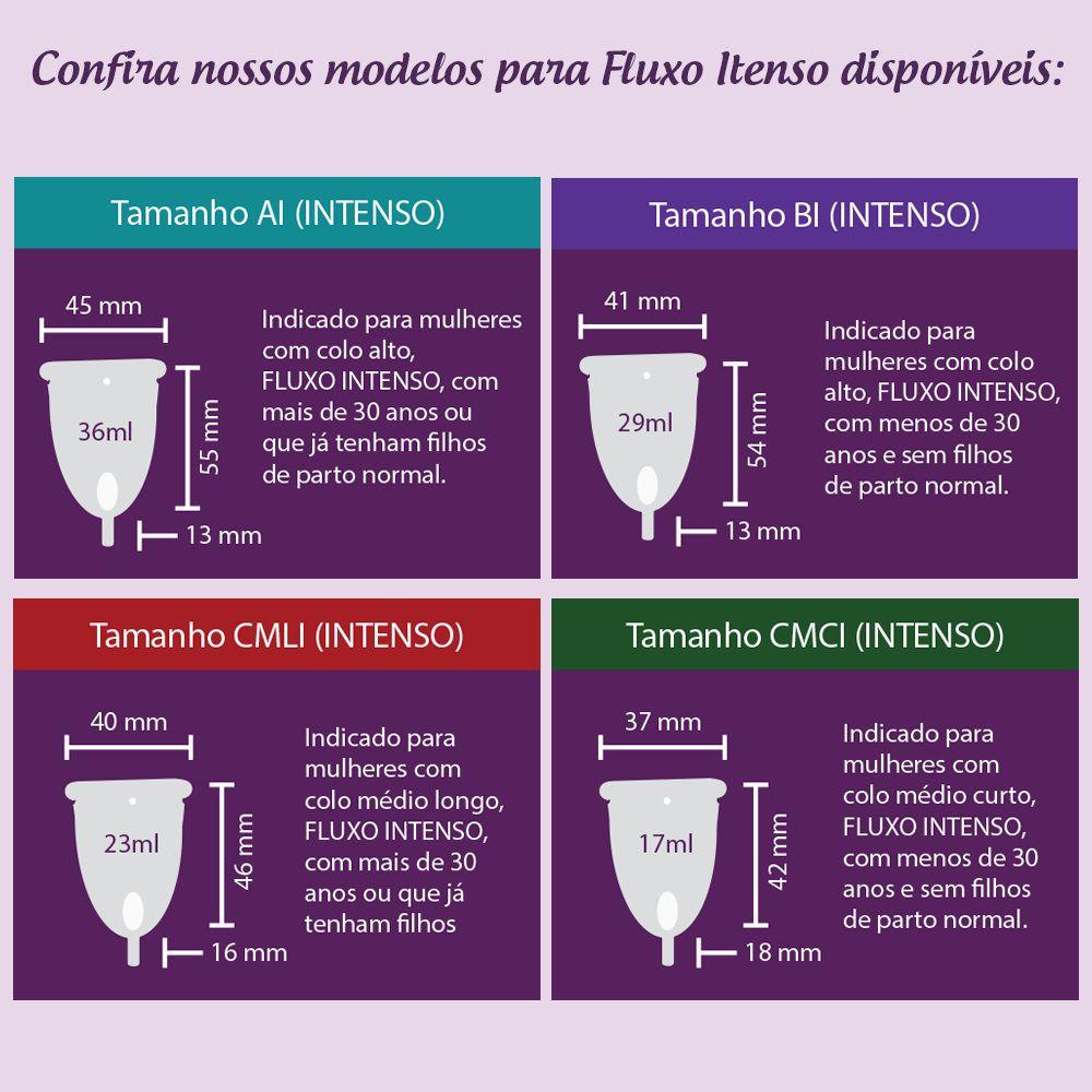Kit com 2 Coletores Menstruais Easy Cup B (Fluxo Leve a Médio)