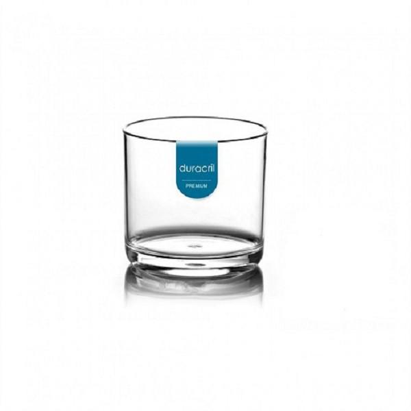 12 Copos Acrílicos para Whisky 320 ml Transparente