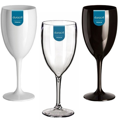 12 Taças Acrílicas para Vinho 400 ml Duracril