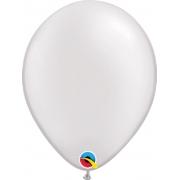 Balão de Látex Branco Perolado Qualatex 25 unidades