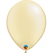 Balão de Látex Marfim Perolado Qualatex 25 unidades