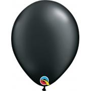 Balão de Látex Preto Onix Perolado Qualatex 25 unidades