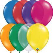 Balão de Látex Transparente Qualatex Pacote com 25 Unidades