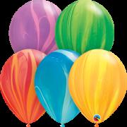 Balão de Látex Marmorizado Ágate 11pol Qualatex 5unid