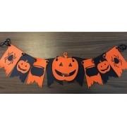 Enfeite Bandeirinha Halloween - Festa Halloween