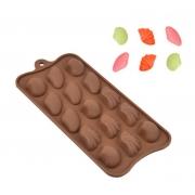Forma de Silicone para Chocolate Conchas
