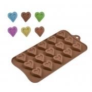Forma de Silicone para Chocolate Coração Vazado