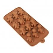 Forma de Silicone para Chocolate Dinossauros