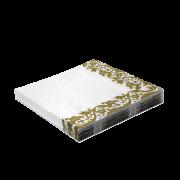 Guardanapos de Papel com detalhes dourados 33x33cm 20unid