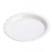 Prato De Papel Branco 10 Unidades