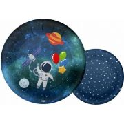 Prato de Papel Festa Astronauta 08unid Duster