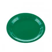 Prato De Papel Verde Bandeira 10 Unidades