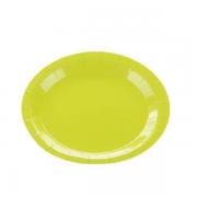 Prato De Papel Verde Limão 10 Unidades