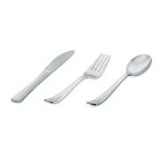 Talher Refeição Descartável Premium Silverplastic Prata 10unid