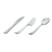 Talher Refeição Descartável Premium Silverplastic Prata 20unid