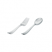 Talher Sobremesa Descartável Premium Silverplastic Prata 20unid