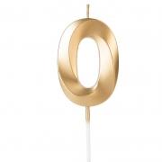 Vela de Aniversário Design Número Dourada