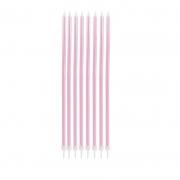 Velas De Aniversário Palito Rosa Metalizada