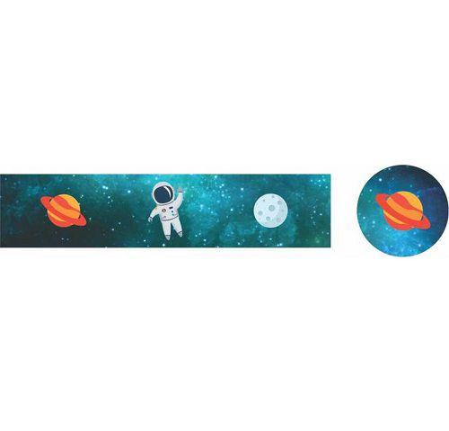 Adesivo para Lembrancinha 9x2 Festa Astronauta 20unid Duster