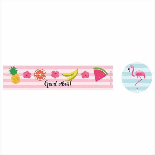 Adesivo para Lembrancinha Festa Flamingo 20unid Duster