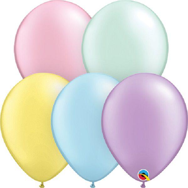 Balão de Látex Cores Lisas Qualatex 16 polegadas Pacote com 10 unidades