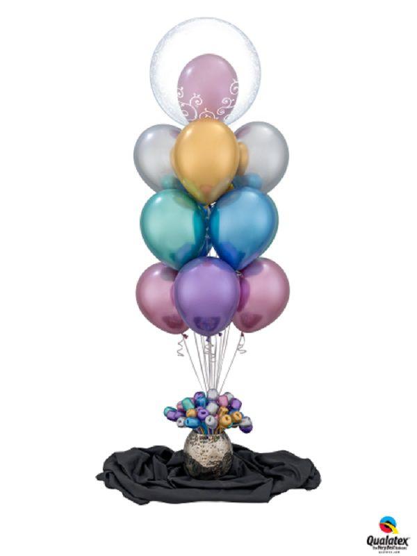 Balão de Látex Chrome Qualatex Pacote com 25 unidades
