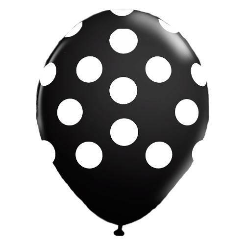 Balão de Látex com Poá  Nº 10 - 25unid Ballontech