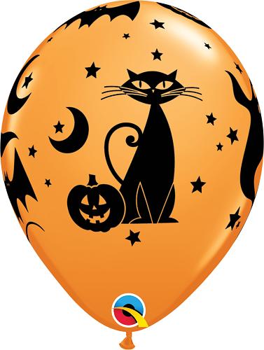 Balão de Látex Halloween Ícones Assustadores no.11 Qualatex (15Unid)