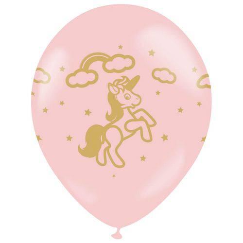 Balão de Látex Unicórnio Nº10 Ballontech 25unid