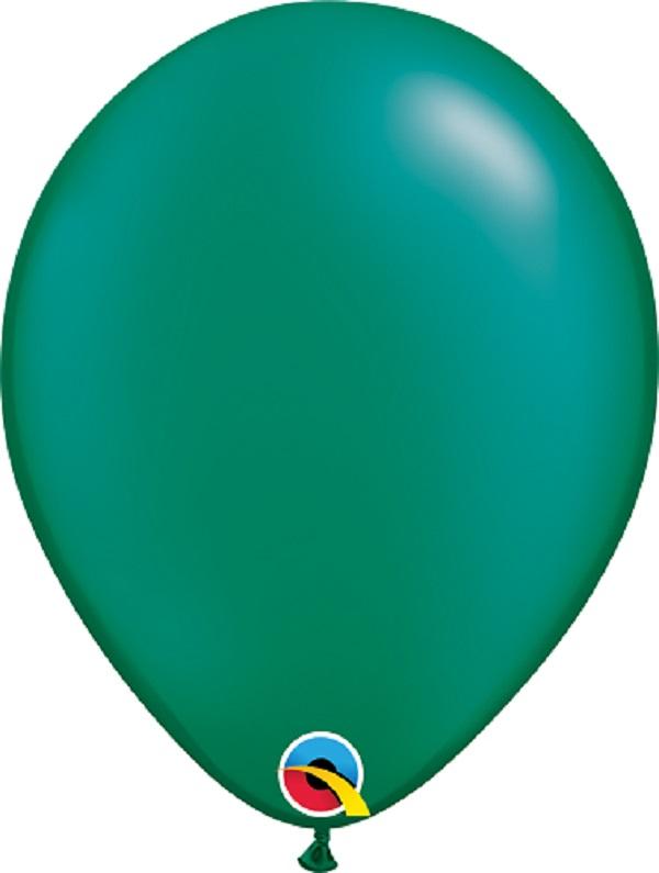 Balão de Látex Verde Esmeralda Perolado Qualatex 25 unidades