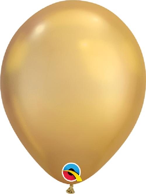 Balão Látex Chrome 7pol Qualatex 25unid