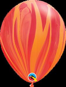 Balão de Látex Marmorizado Ágate Cores Sortidas 11' - 5unid