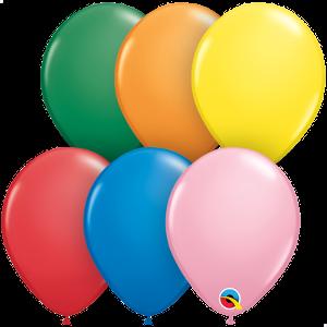 Balão Látex Cores Opacas 5pol Qualatex (25unid)