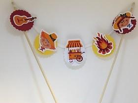 Bandeirinha Topo de Bolo - Festa Junina