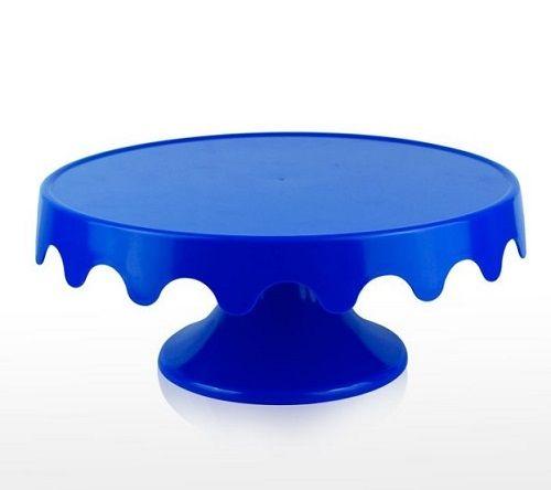 Boleira com Babado Azul Bic
