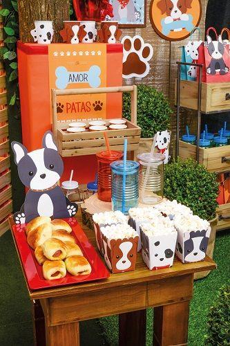 Caixa para Kit Lanche Festa Cachorrinhos 10unid Cromus