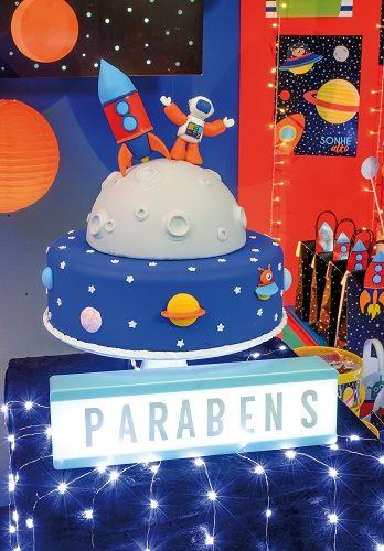 Caixa para Pipoca Festa Astronauta 10unid Cromus