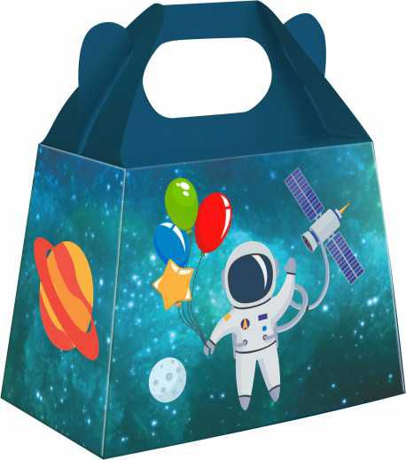 Caixa Surpresa Festa Astronauta 08unid Duster