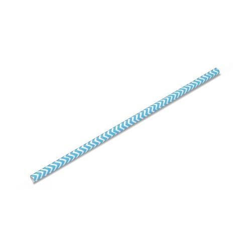 Canudo de Papel Missoni Azul Claro - 20 unidades