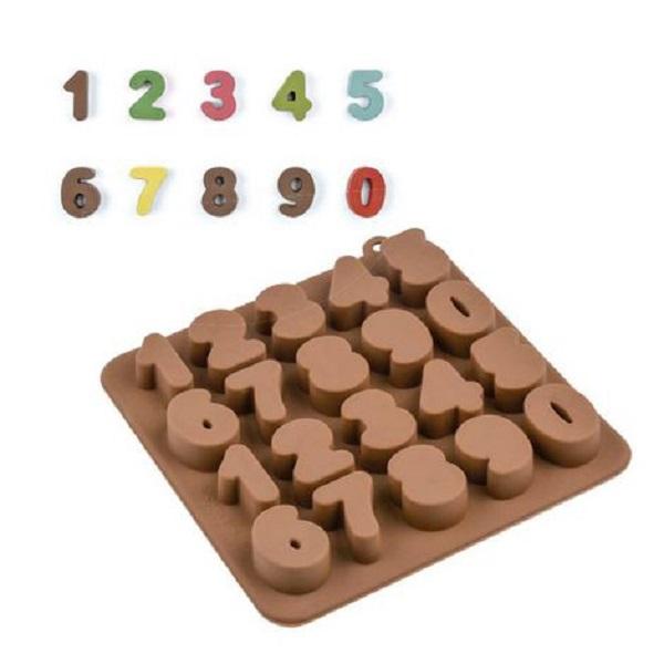 Forma de Silicone para Chocolate Números