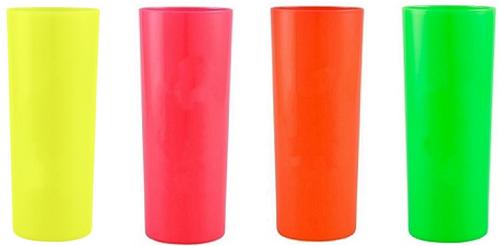 Copo Acrílico Long Drink 350ml Várias Cores Neon Bezavel