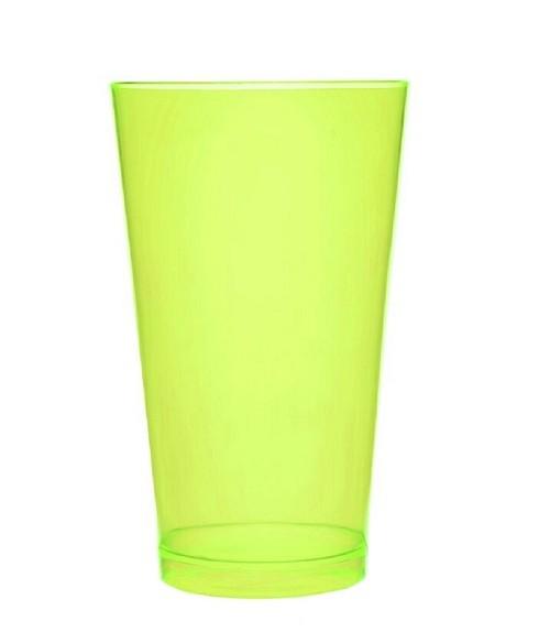 Copo para Suco em Acrílico Amarelo Neon 500ml Bezavel
