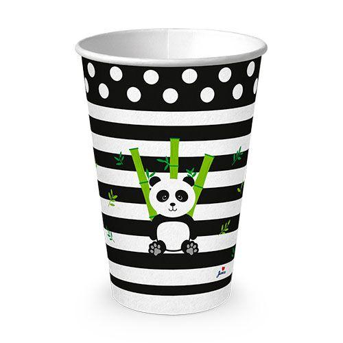 Copo de Papel Descartável Panda 180ml 8unid Junco